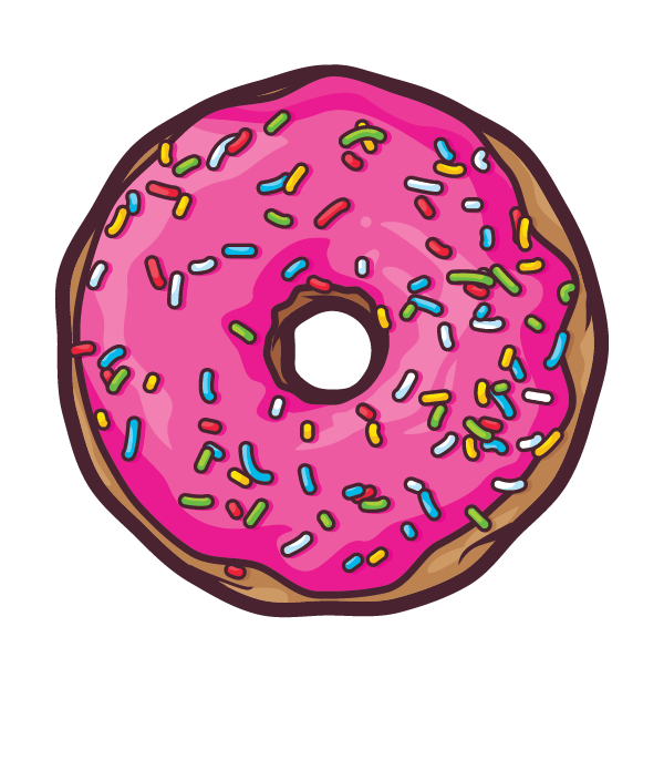 Donuts by javier padilla. Strawberries clipart frosted donut