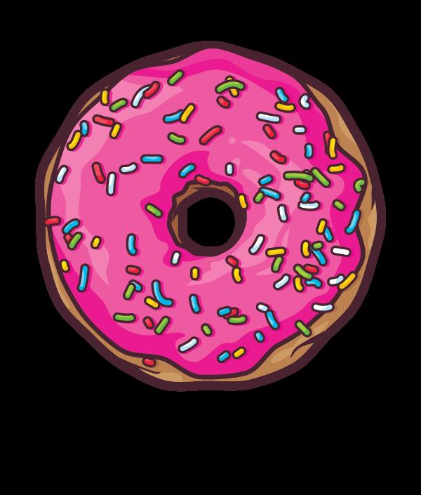 By javier padilla via. Donuts clipart half donut