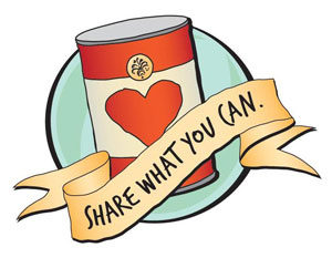 Canned clip art best. Food clipart drive