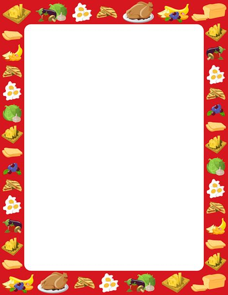 clipart food frame