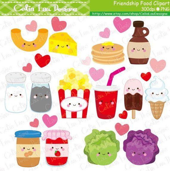 Friendship clipart food. Cartoon best friend cute