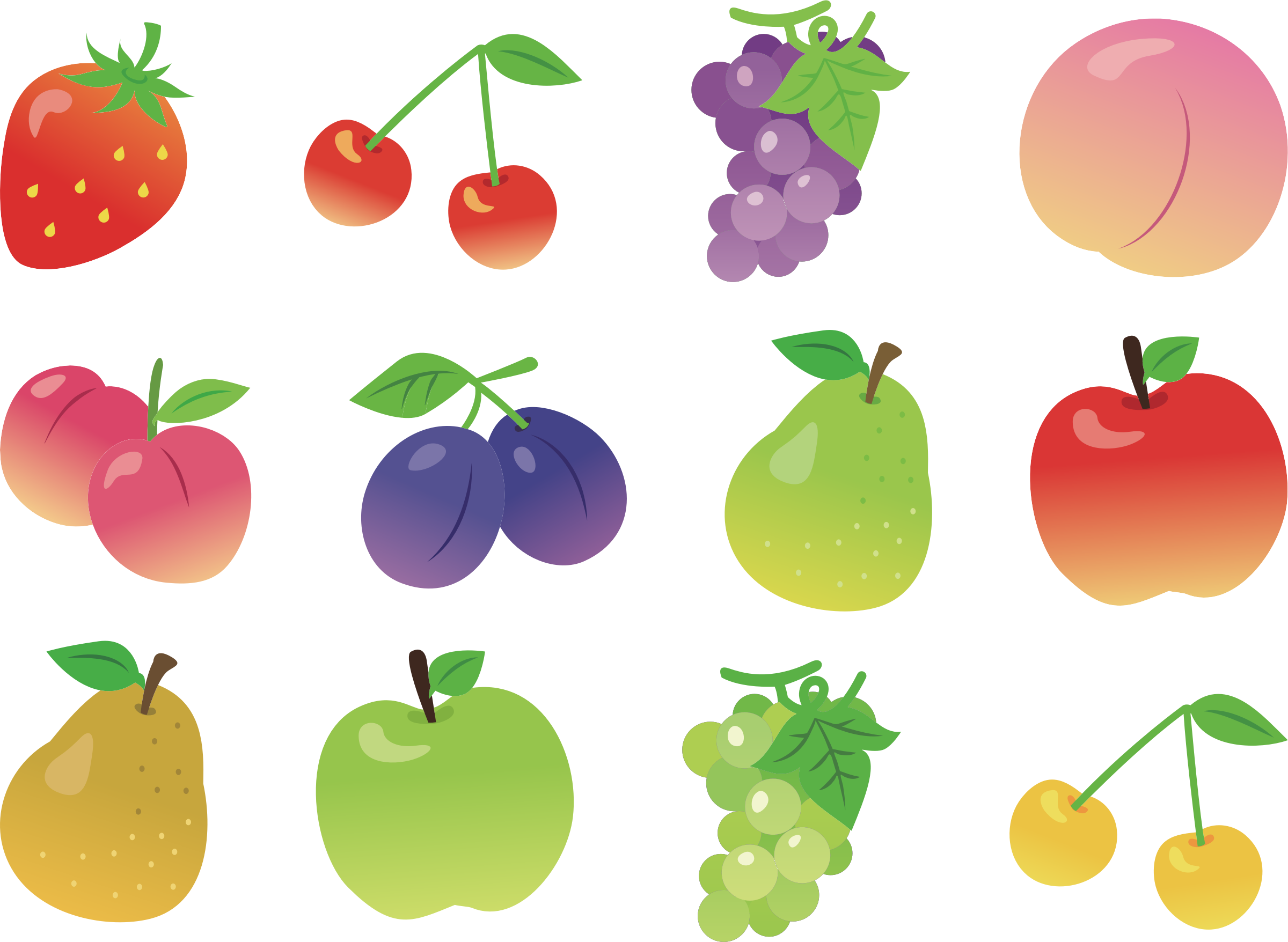 Collection big image png. Clipart food fruit