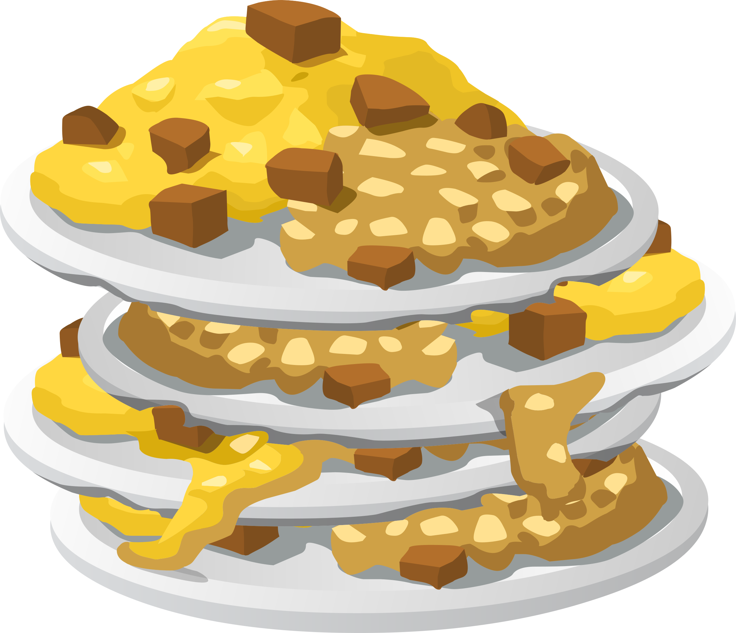 Food messy up big. Foods clipart fry