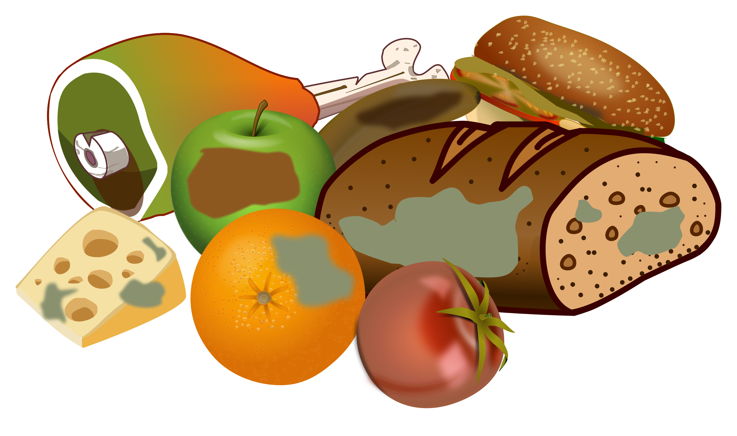 collection of rotten. Food clipart junk food