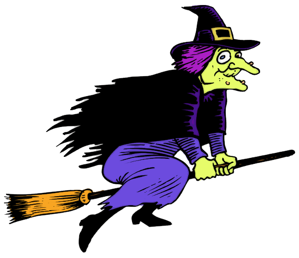 This cartoon clip art. Clown clipart scary witch