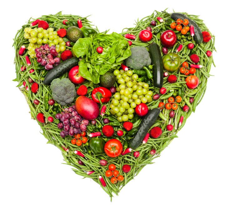 Clipart food heart. Love your through healthy