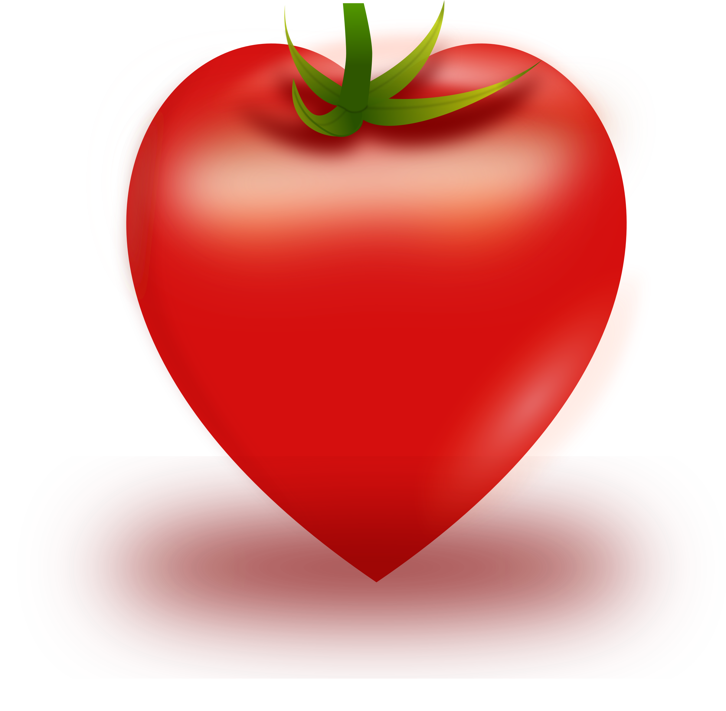 Vector tomato big image. Heart clipart fruit