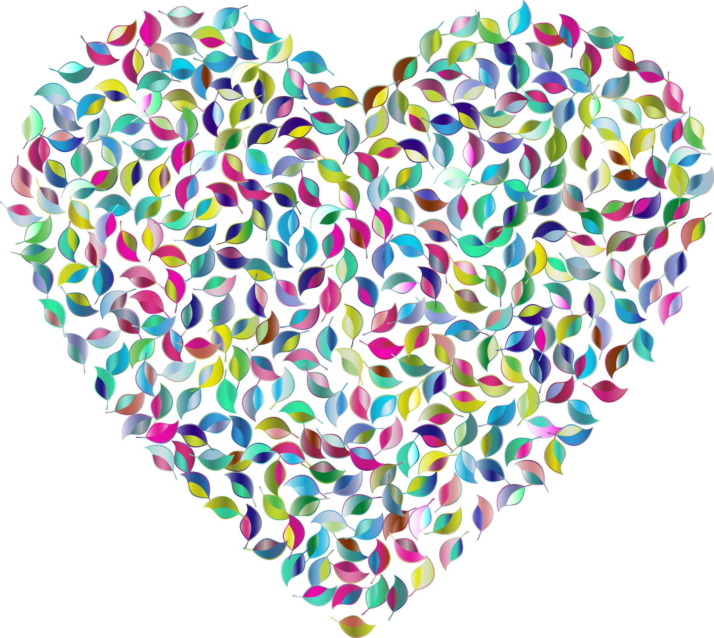 Clipart heart vegetable. Prismatic green no background