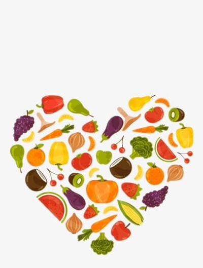Healthy png care . Clipart heart food