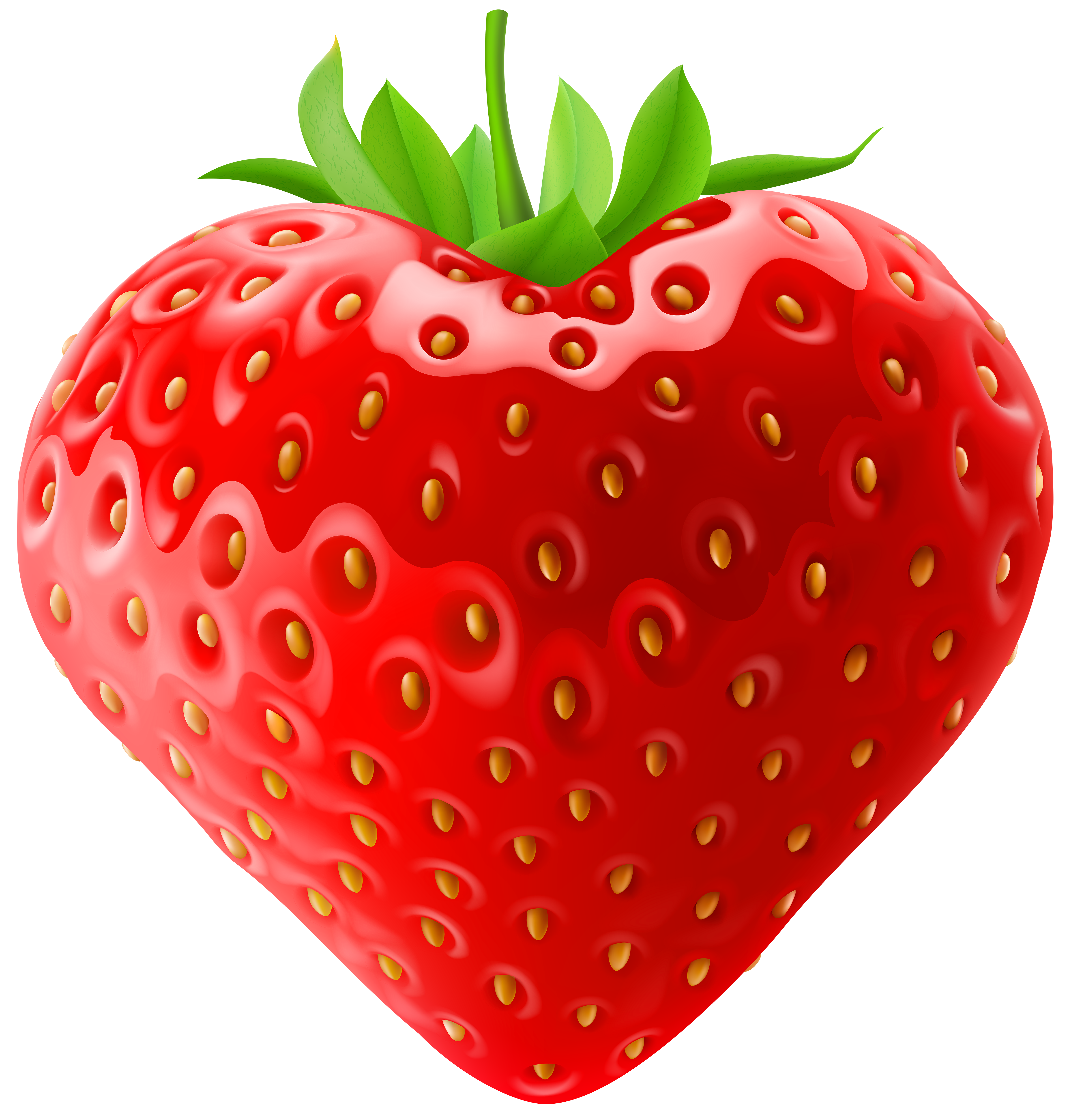 Strawberry png clip art. Hearts clipart fruit