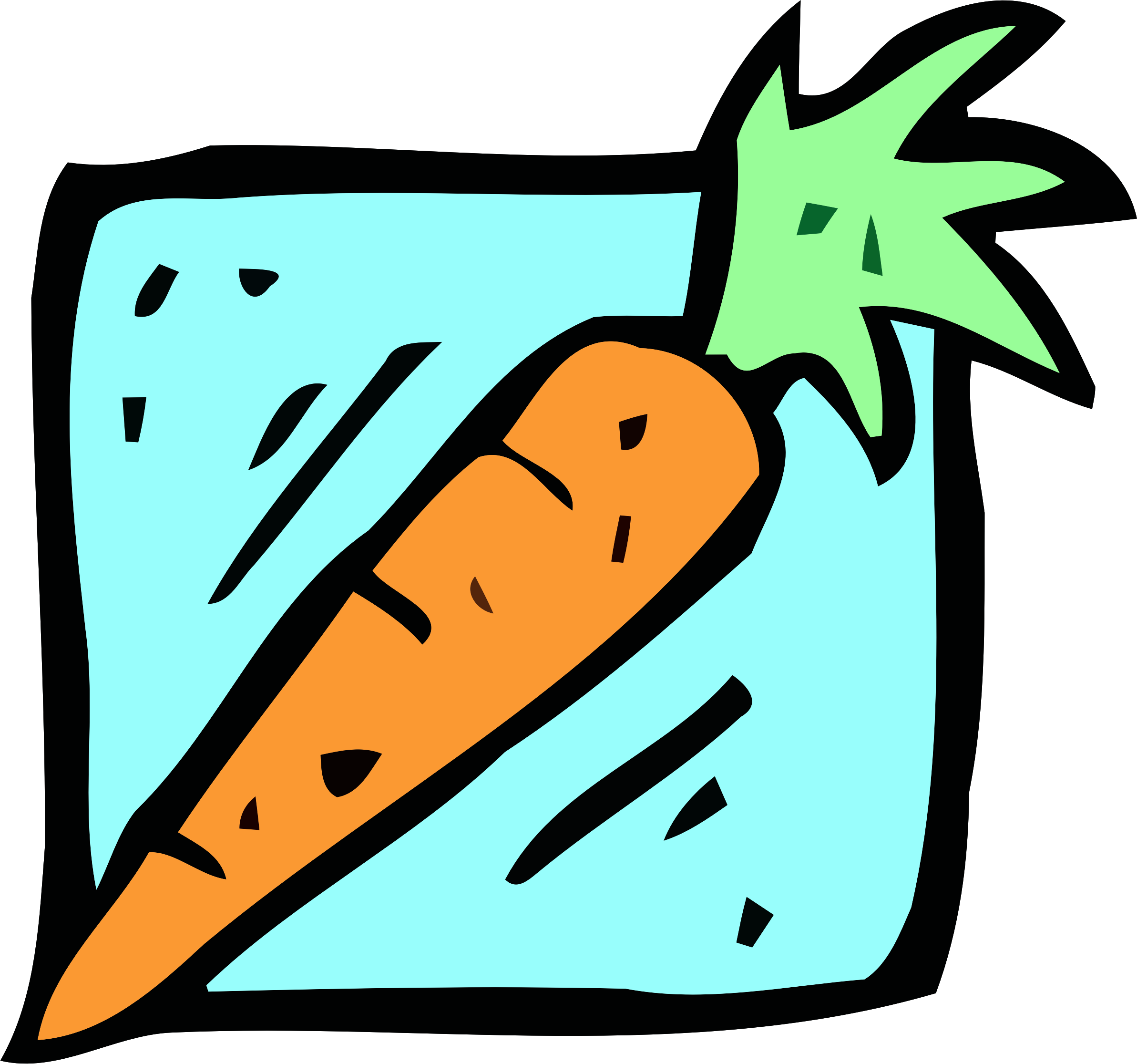 Food and drink icon. Foods clipart carrot