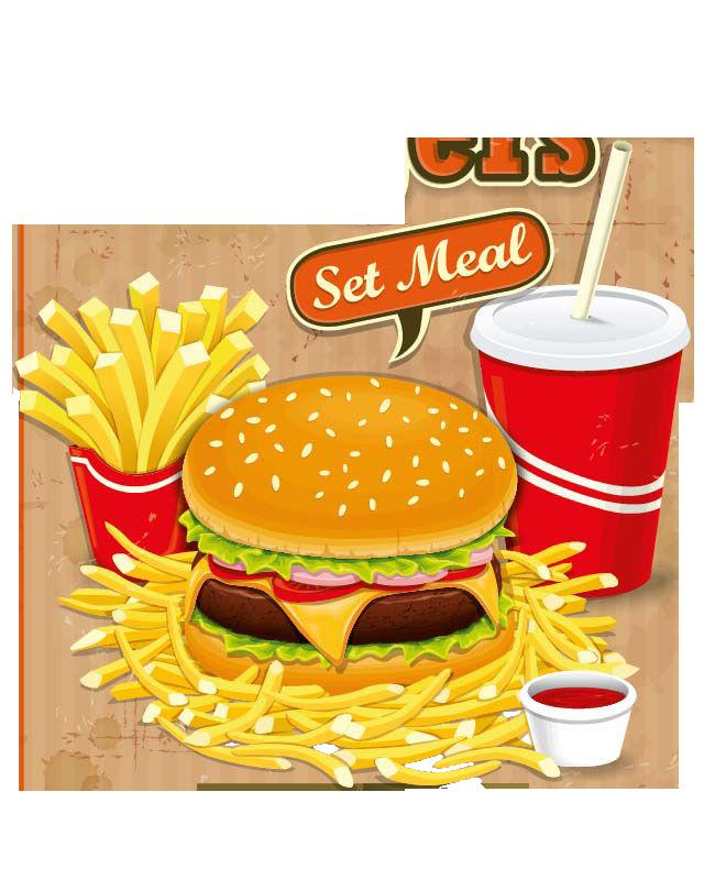 Fries clipart burger. Hamburger fast food junk