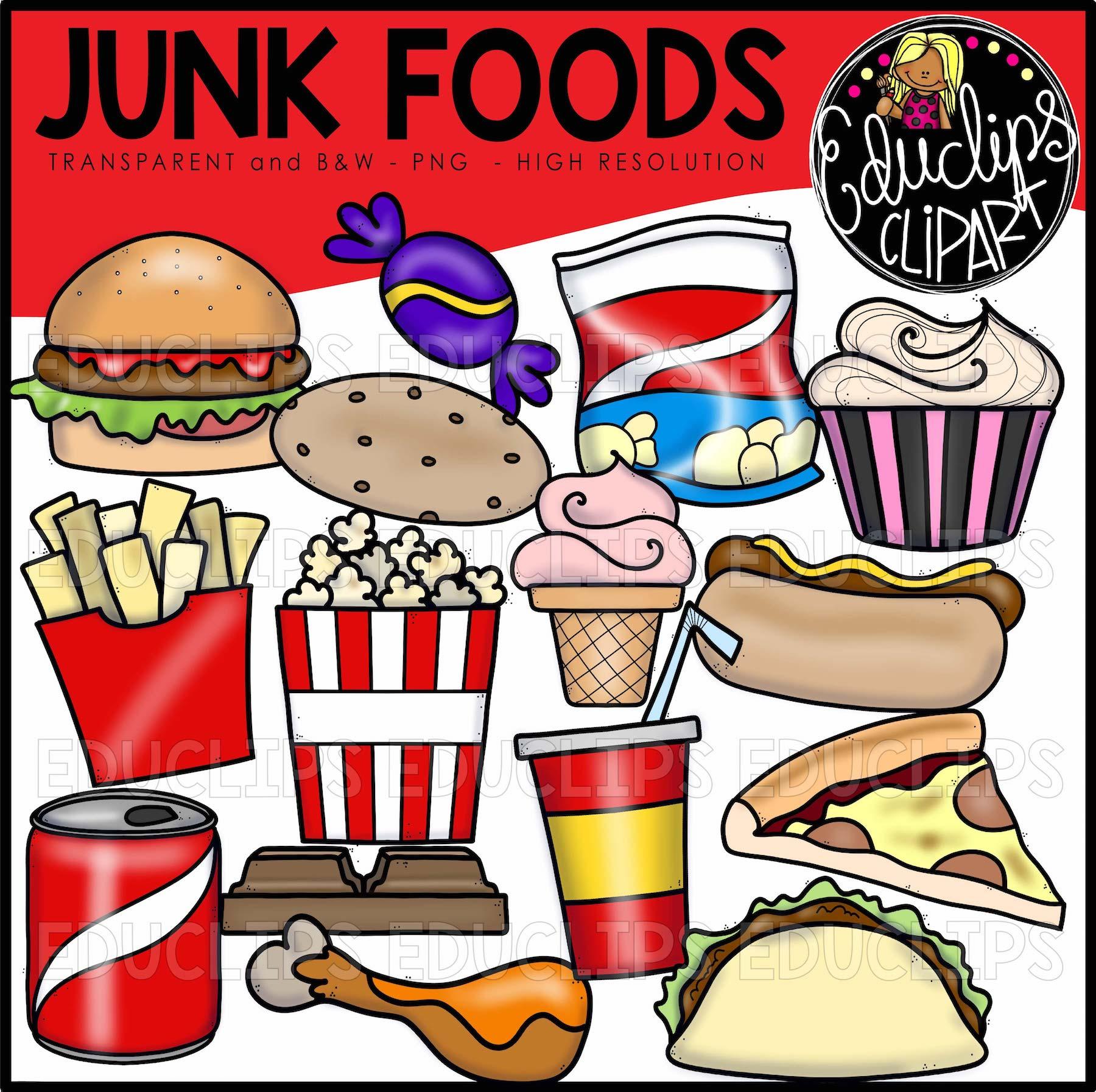 Clipart food junk food. Foods clip art bundle
