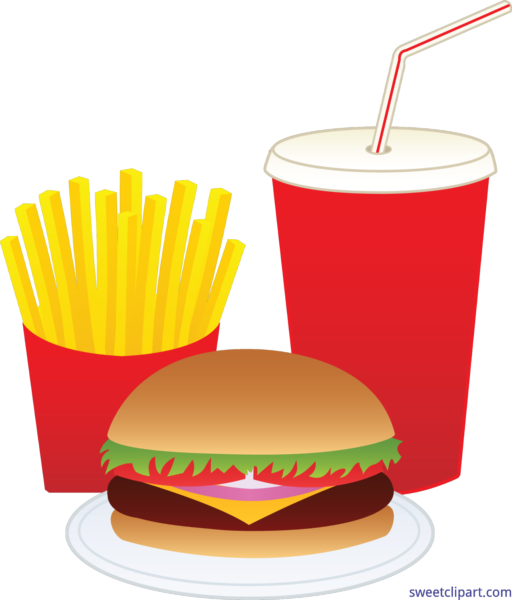 Sweet clip art page. Clipart food junk food