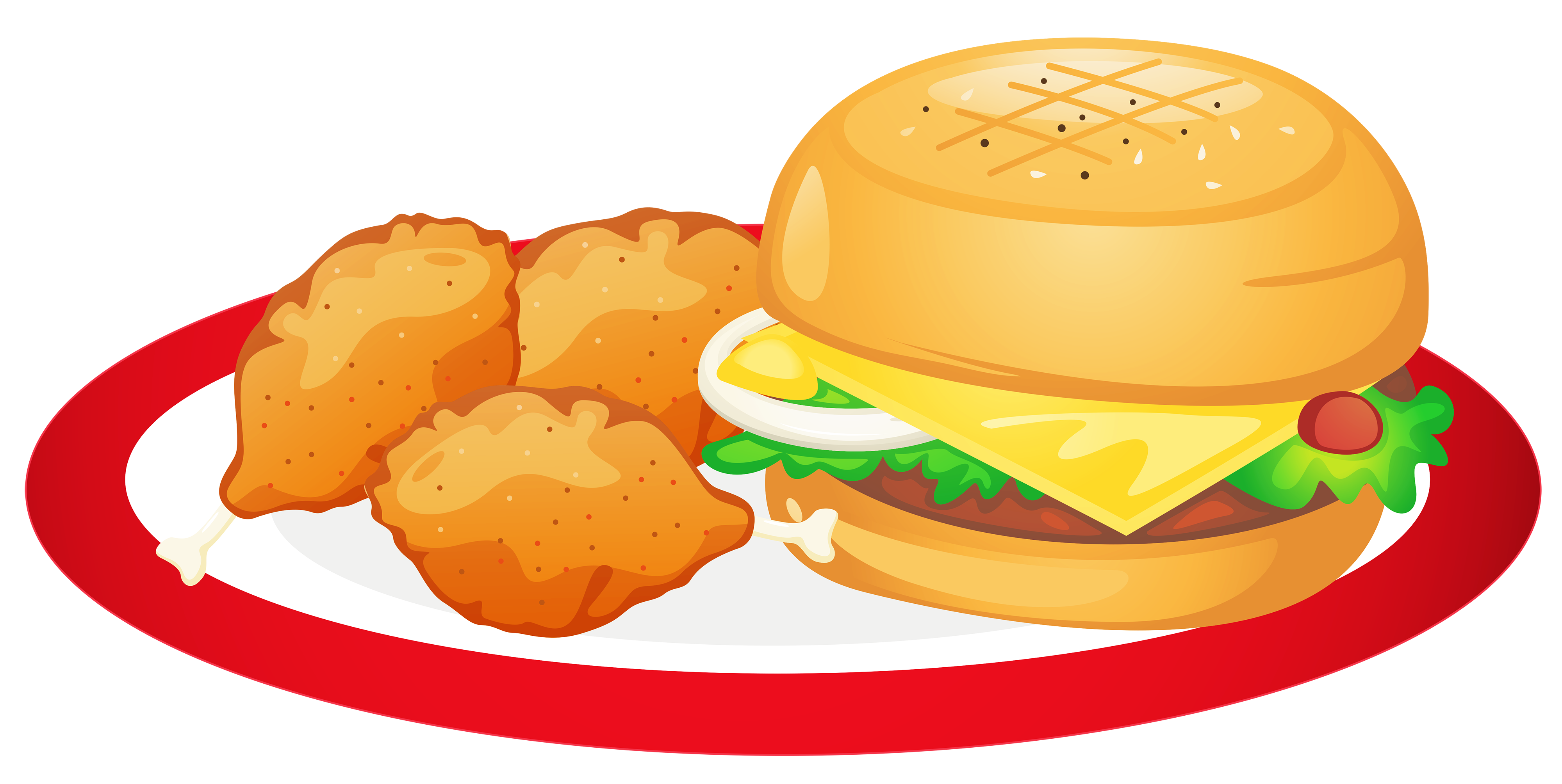 collection of unhealthy. Dinner clipart main dish