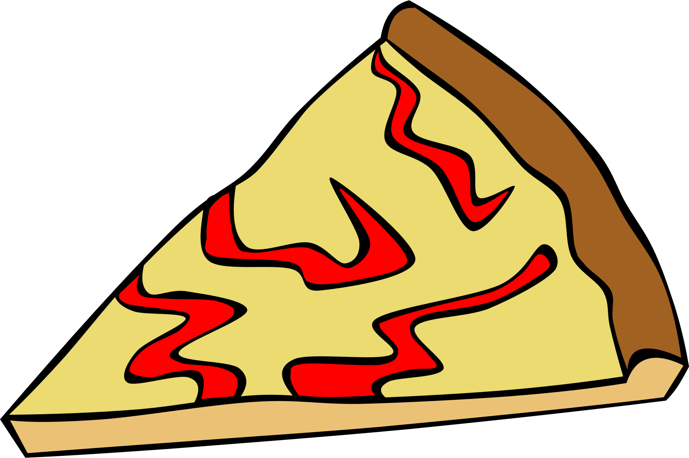 Fast food snack pizza. Dinner clipart animated
