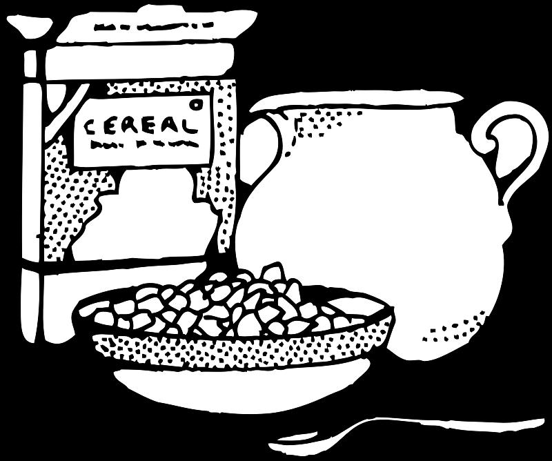 milk clipart breakfast