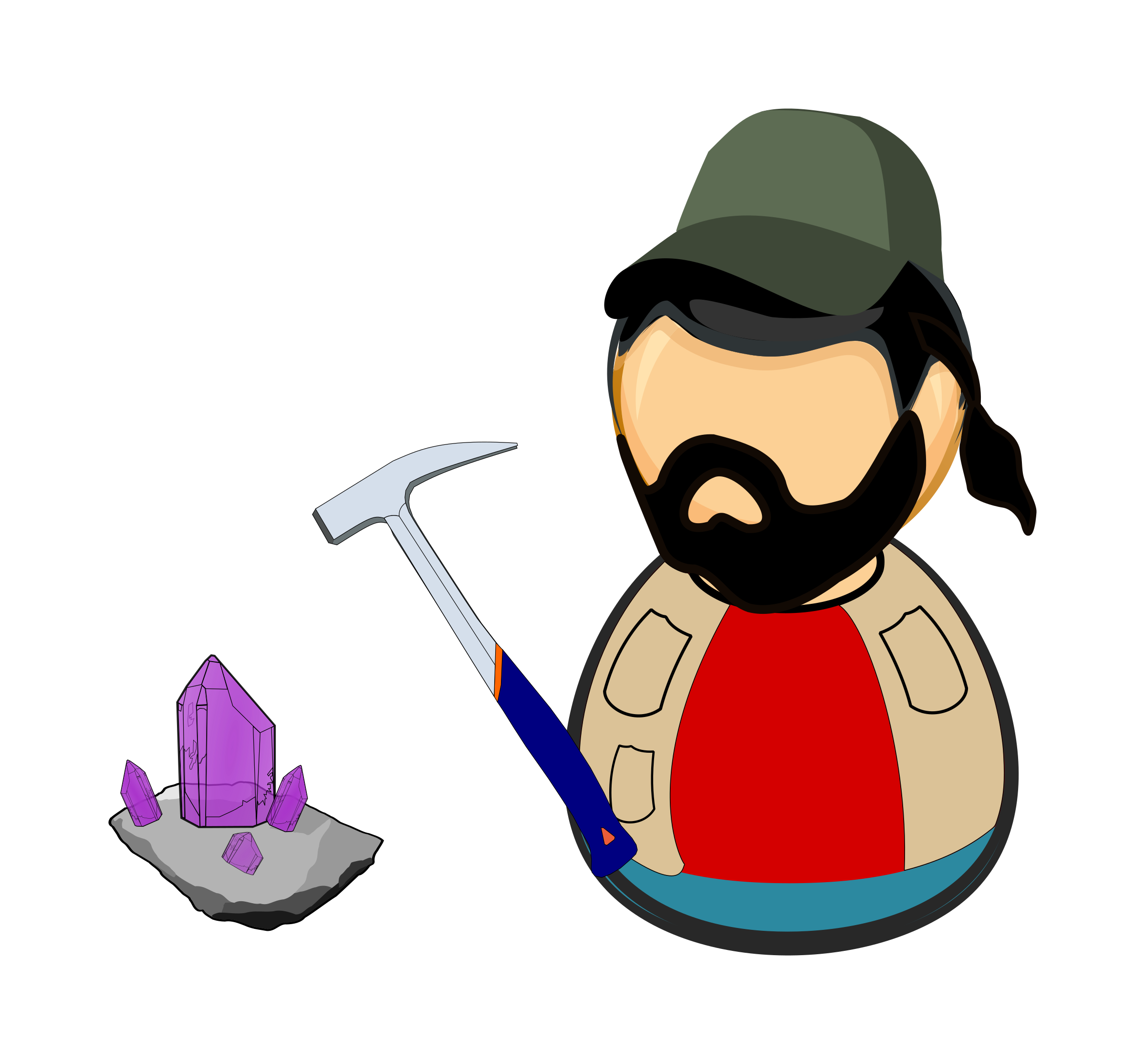 Clipart hammer geology. Mineralogist mineral collector icons