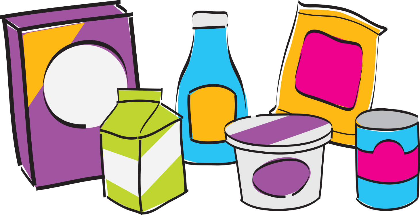 Nutrition facts label containers. Sharing clipart food