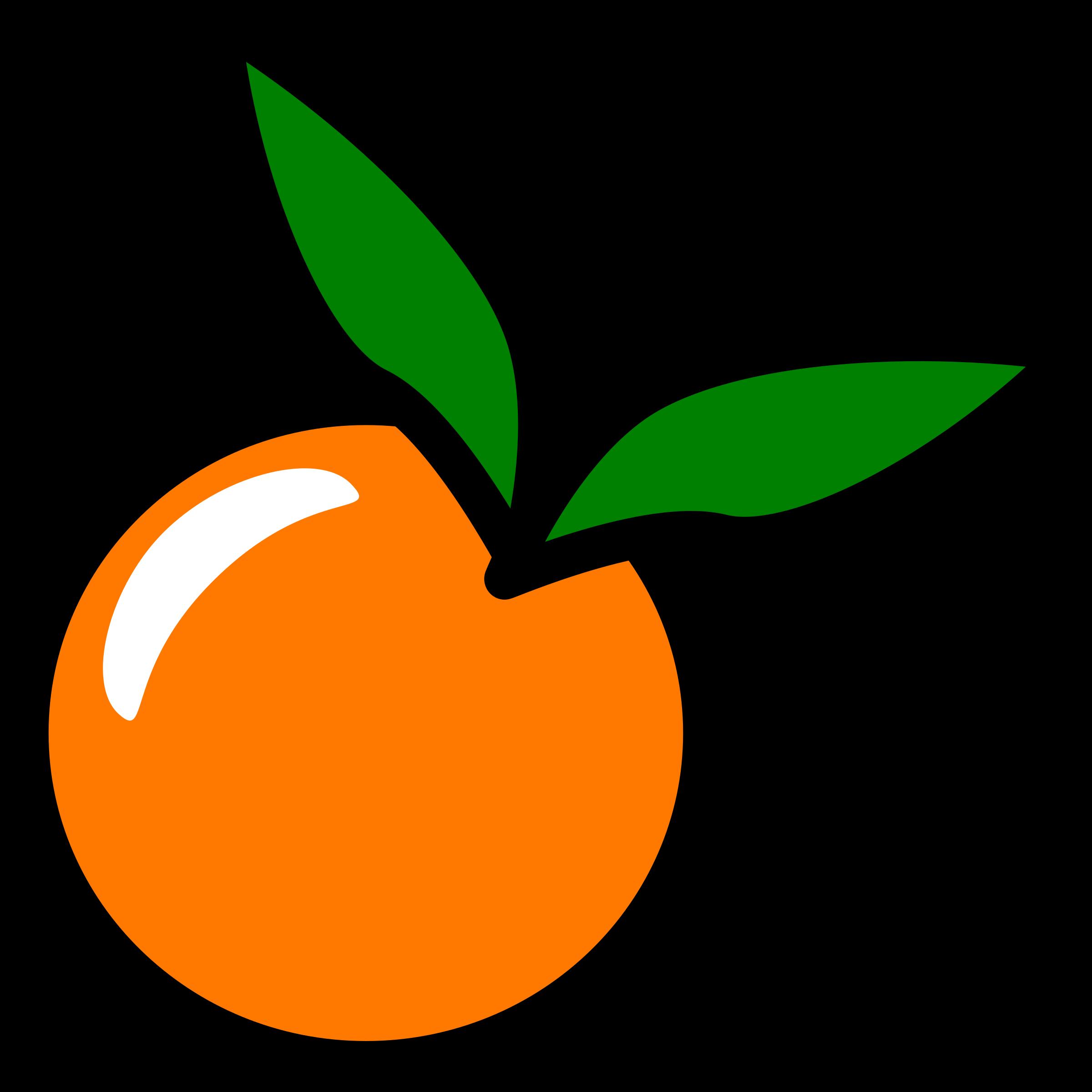 Orange icon big image. Foods clipart minimalist