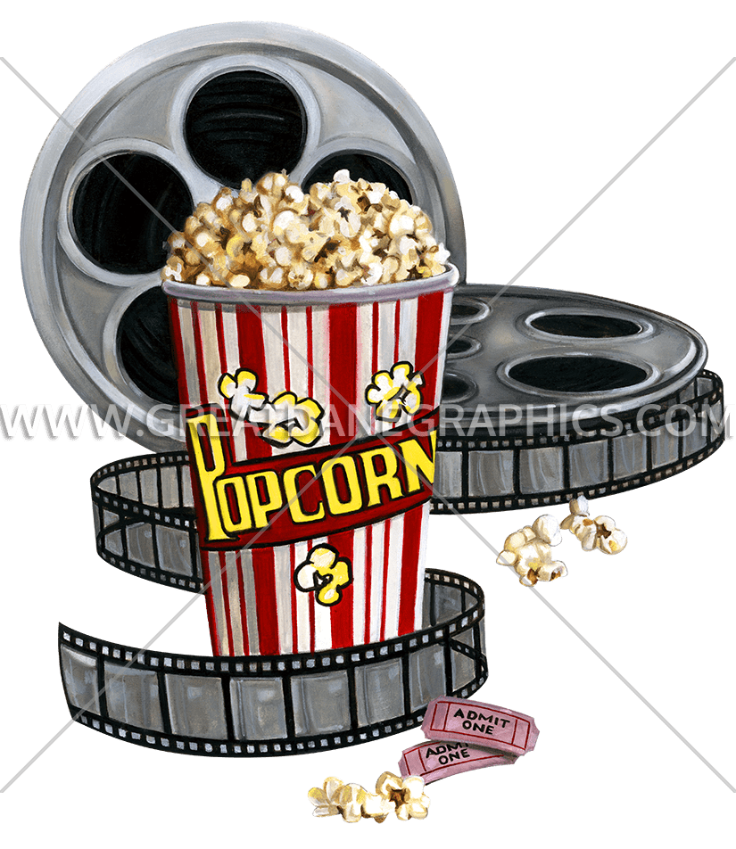 Movies clipart movie snack. Popcorn production ready artwork