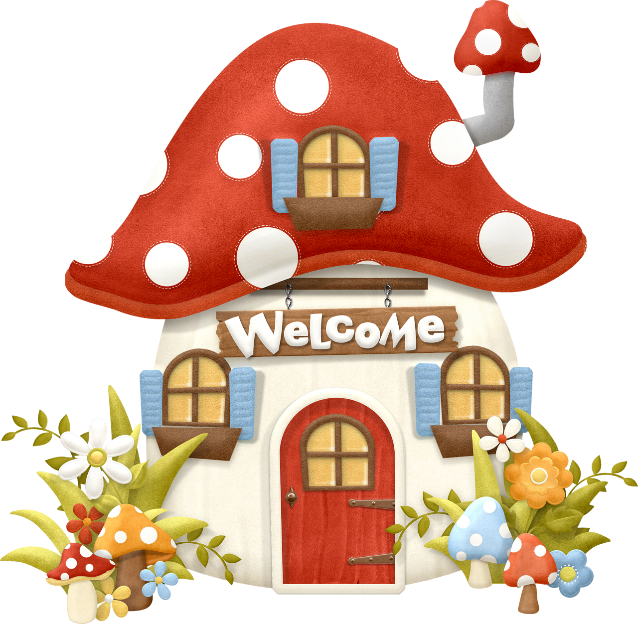 Mushrooms clipart enchanted forest.  cb fc b