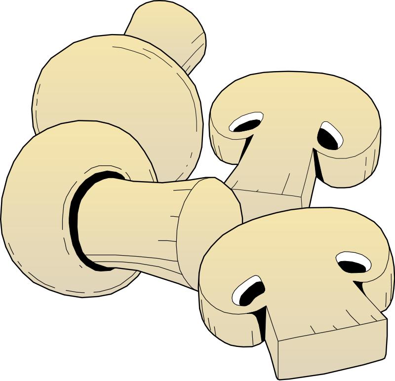 Mushrooms clipart printable. Free sliced mushroom cliparts
