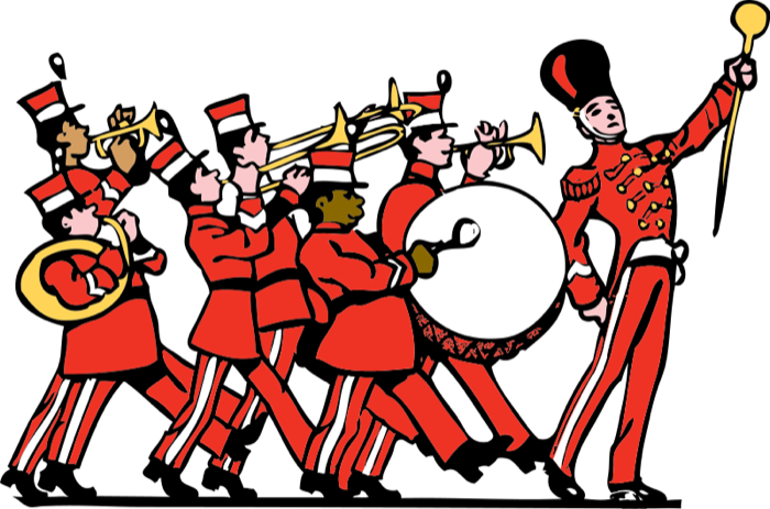 Drums clipart cartoon. Free music marching band