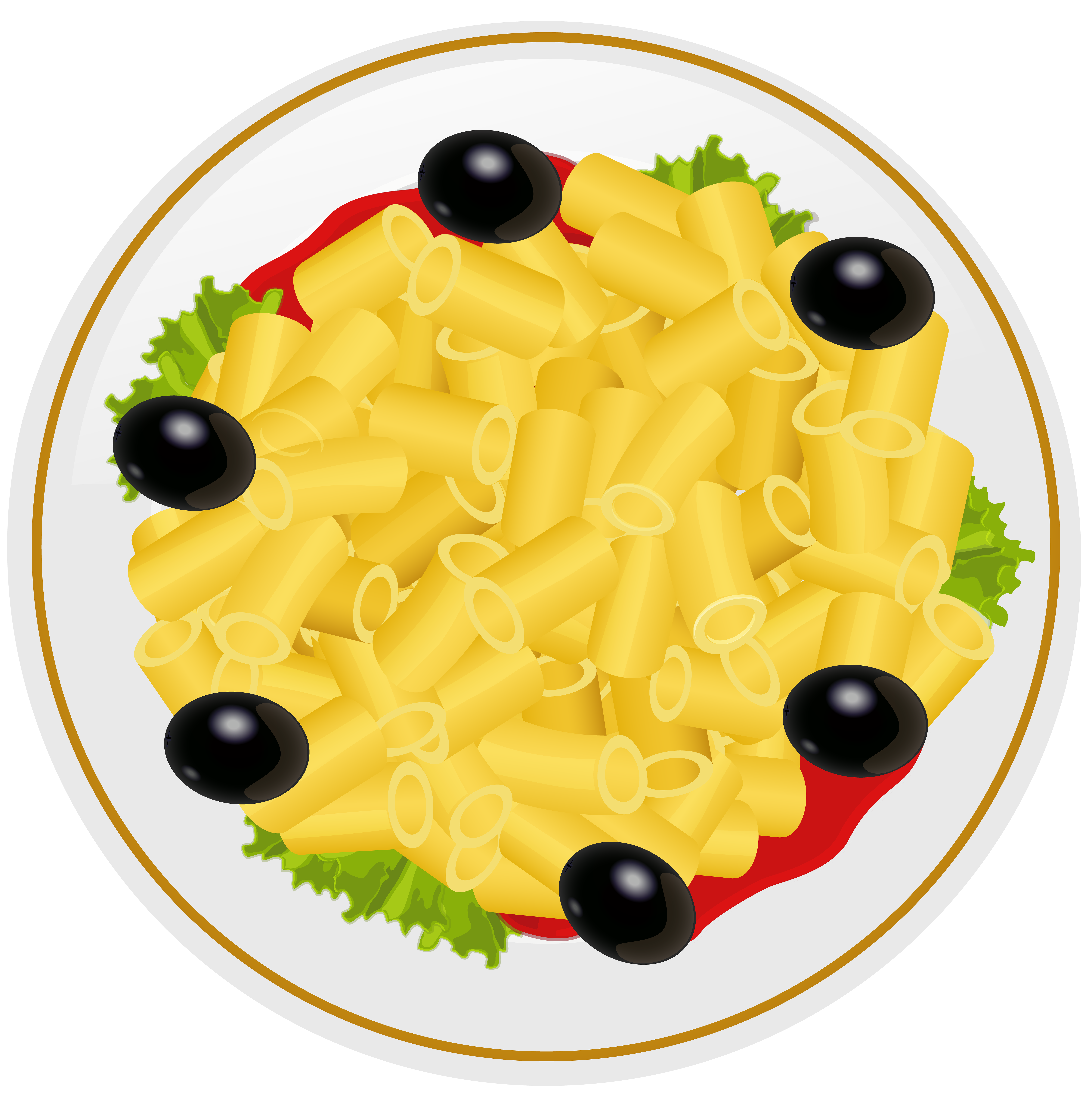 Pasta png clip art. Spaghetti clipart full plate food