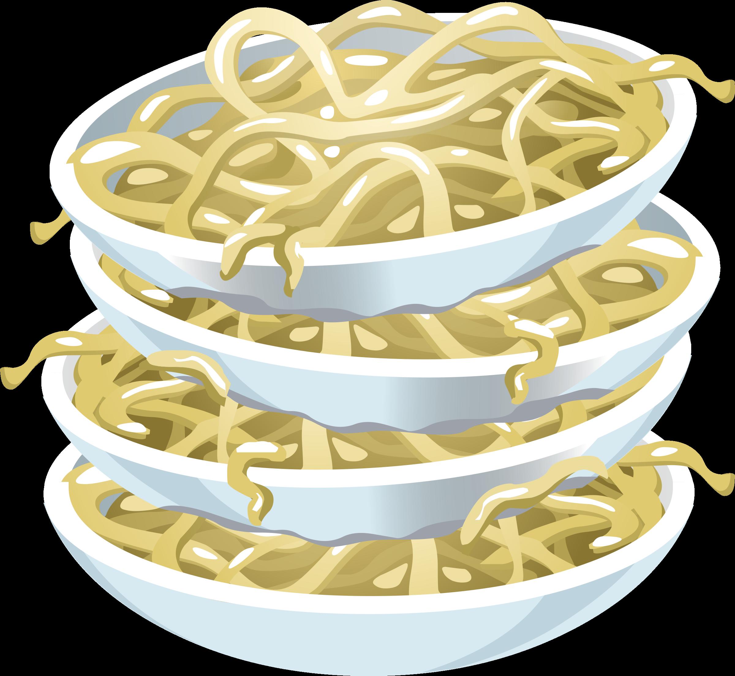 Food plain big image. Noodles clipart udon noodle