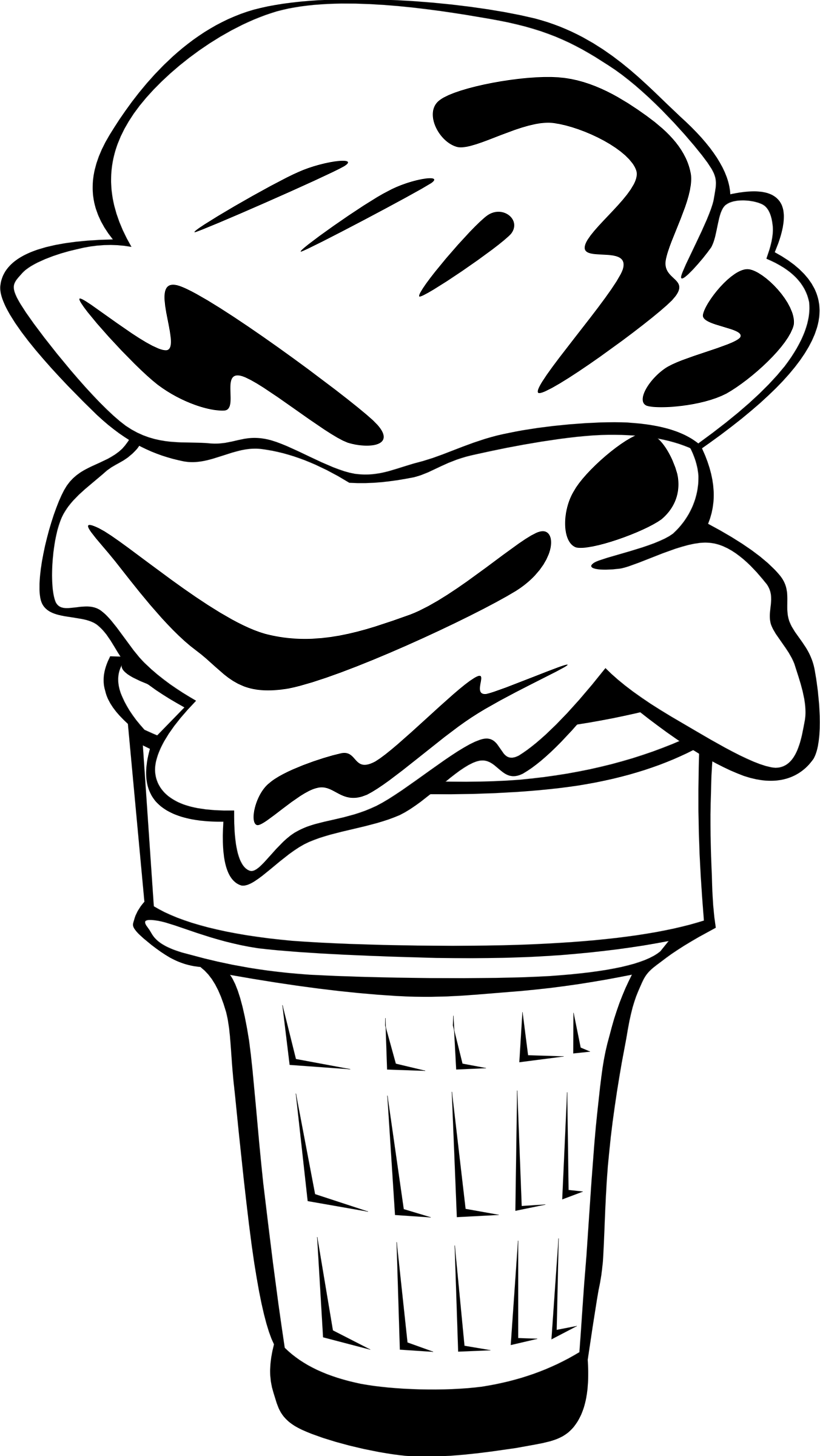 desserts clipart black and white