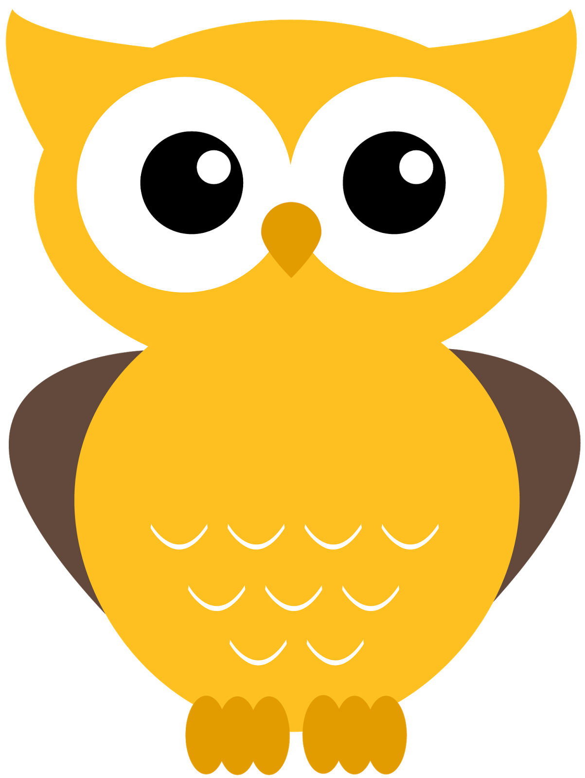 more adorable printables. Orange clipart owl