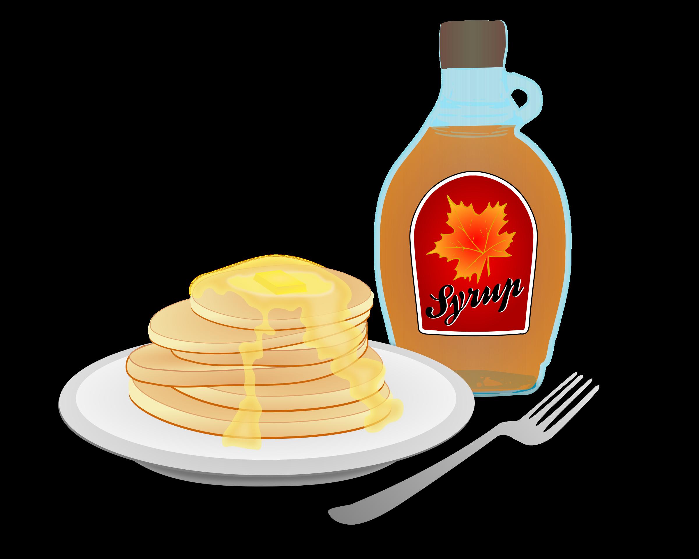 Pancakes cooked breakfast