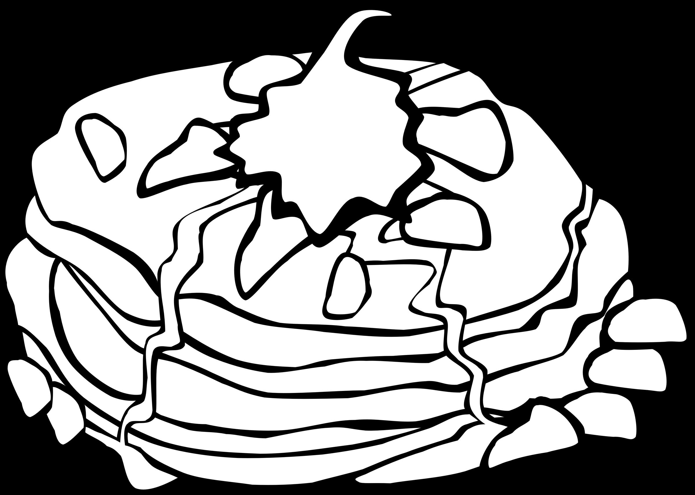 Fast breakfast pancakes big. Food clipart meeting
