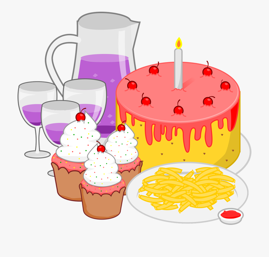 Clipart food party. Fast pizza snack