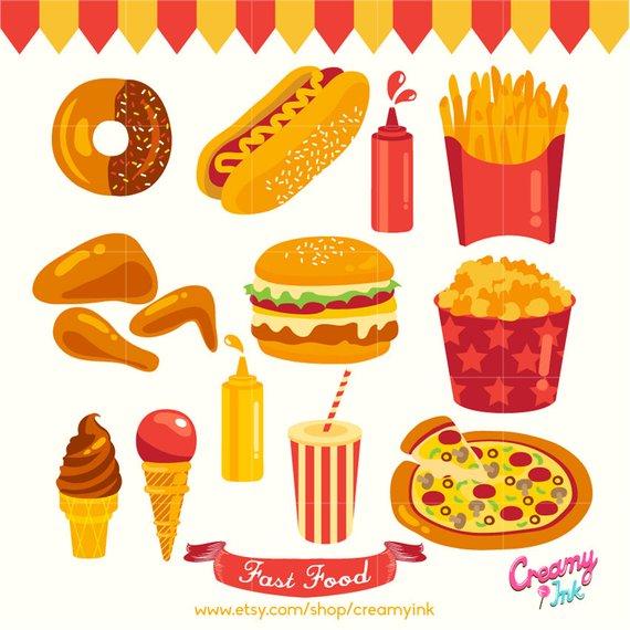 Clipart food party. Digital vector clip art