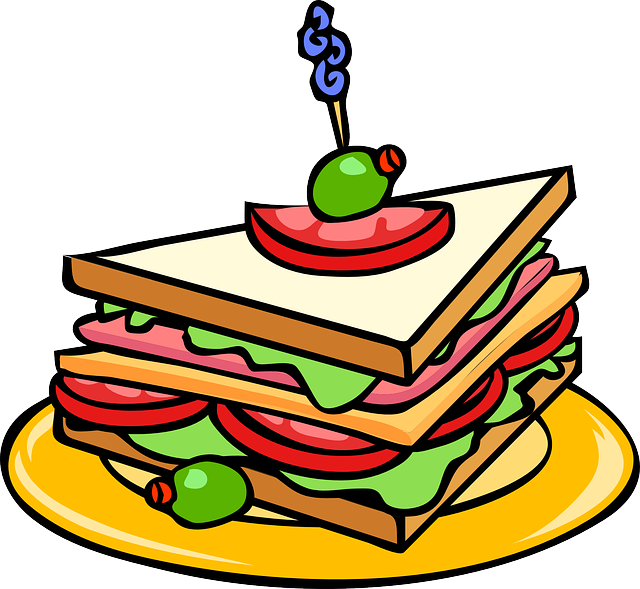 Clipart food party.  collection of snacks