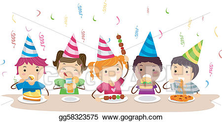 Vector stock illustration gg. Clipart food party
