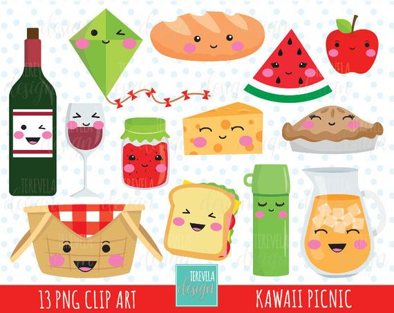 sale kawaii party. Clipart food picnic