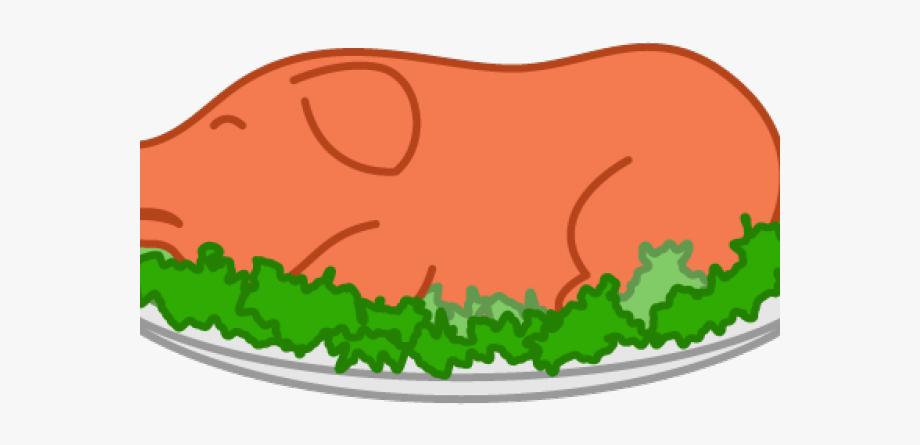 Roast pork free . Clipart pig food