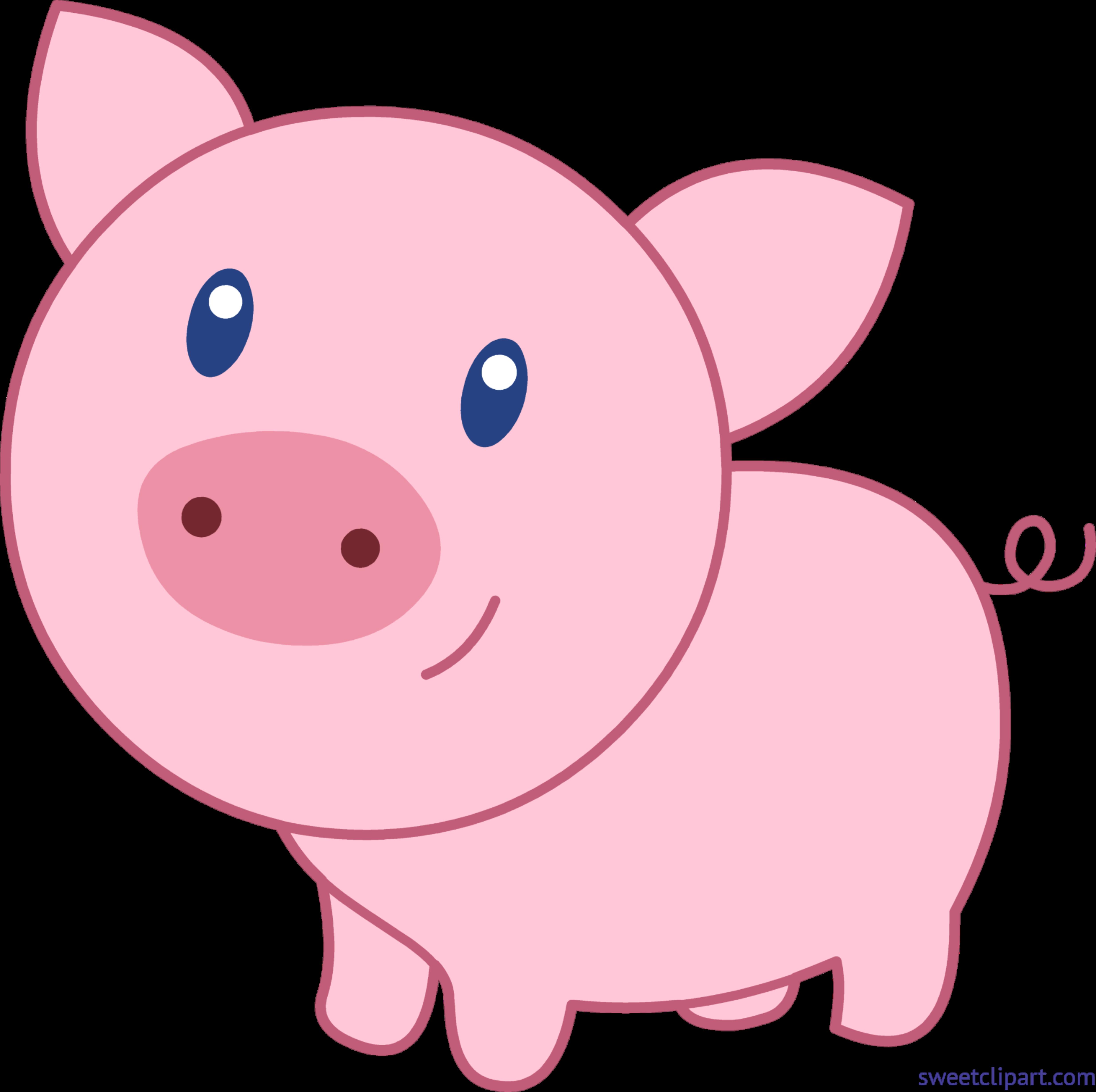 Cute clip art sweet. Clipart pig outline