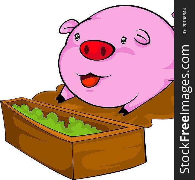 Clipart pig food. Portal