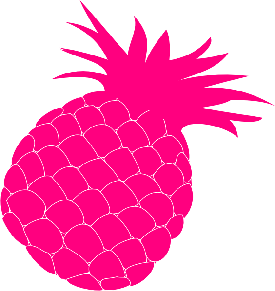 Pineapple clipart pineaplle. Hot pink clip art