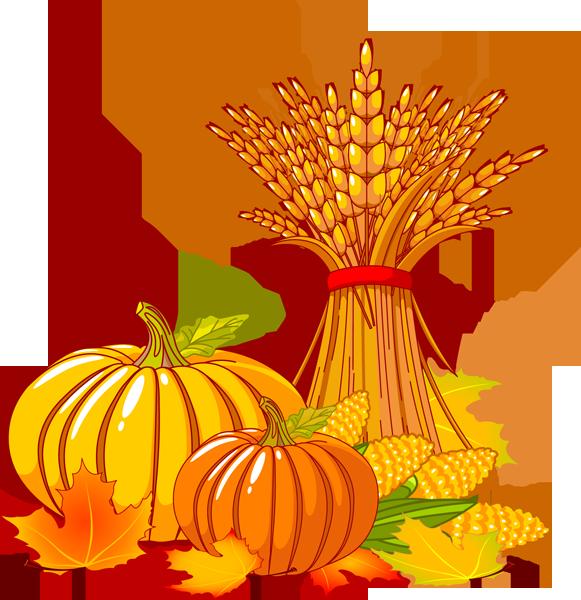 Pumpkin clipart basic. Wheat and corn clip