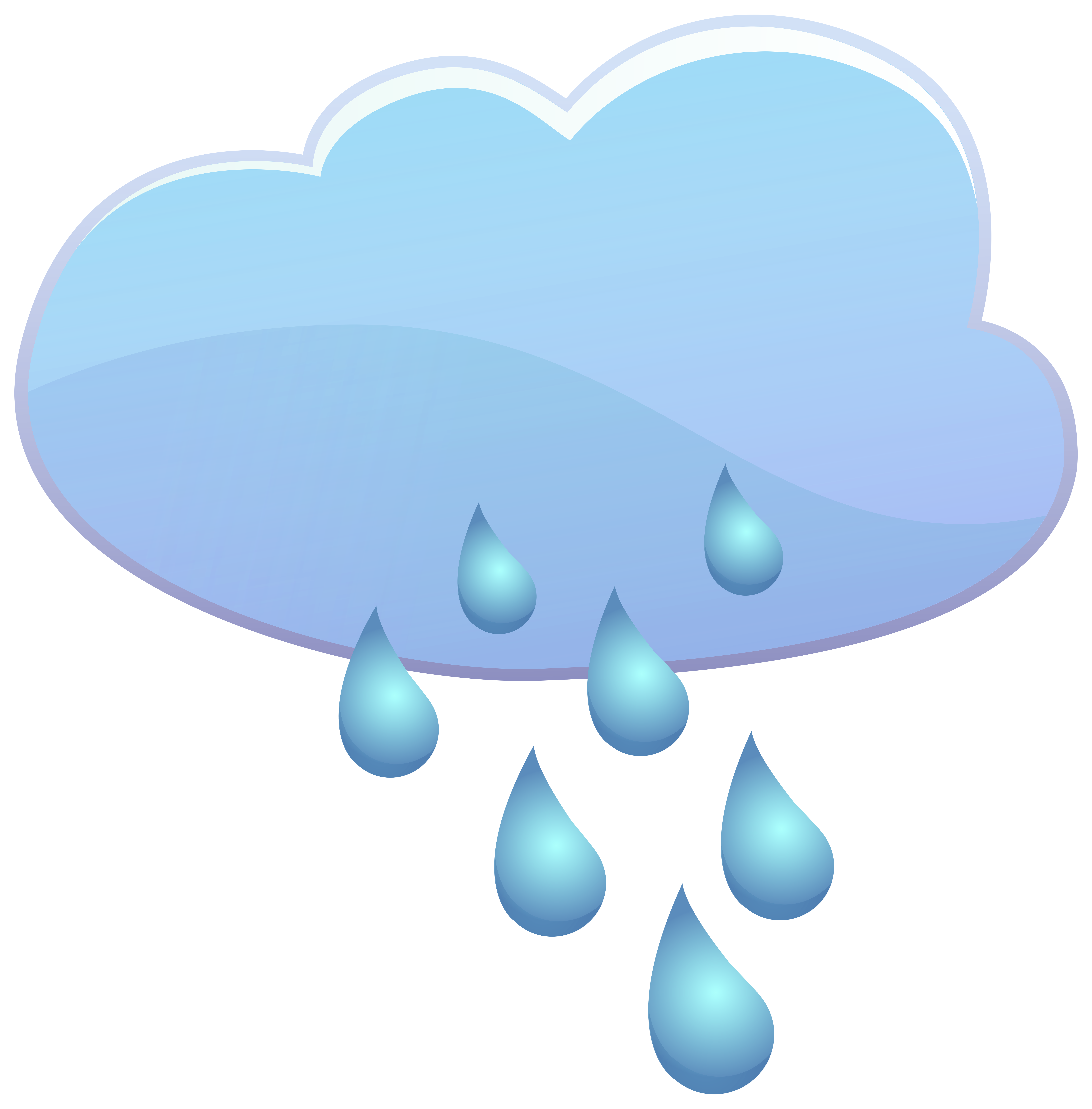 Cloud and drops weather. Grass clipart rain