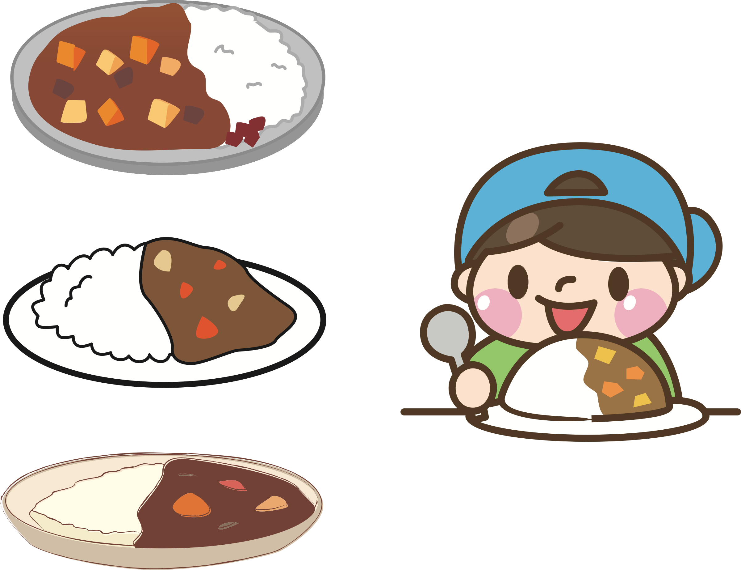 Japanese clipart emperor japan. Curry rice big image