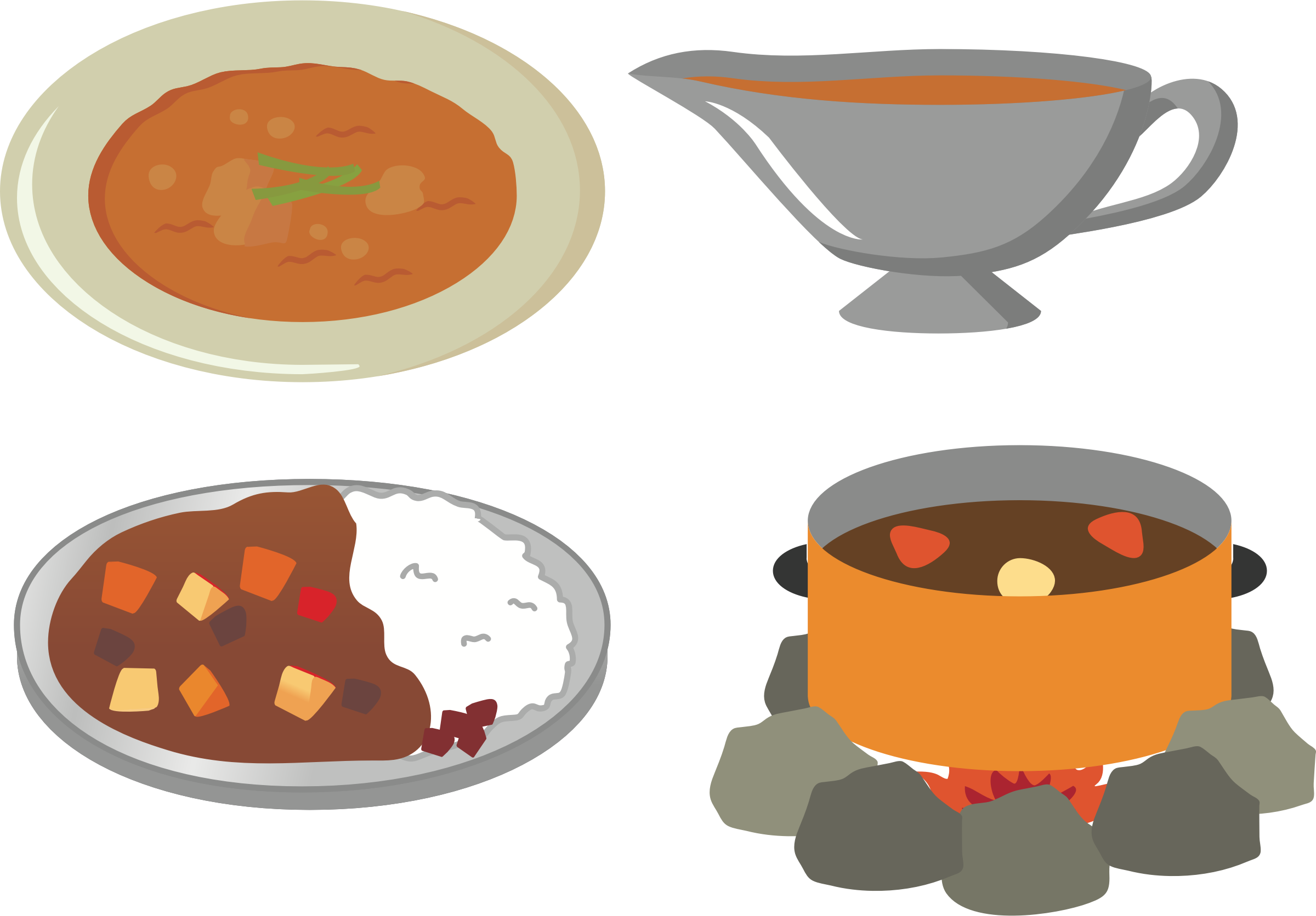 Japanese curry big image. Foods clipart rice