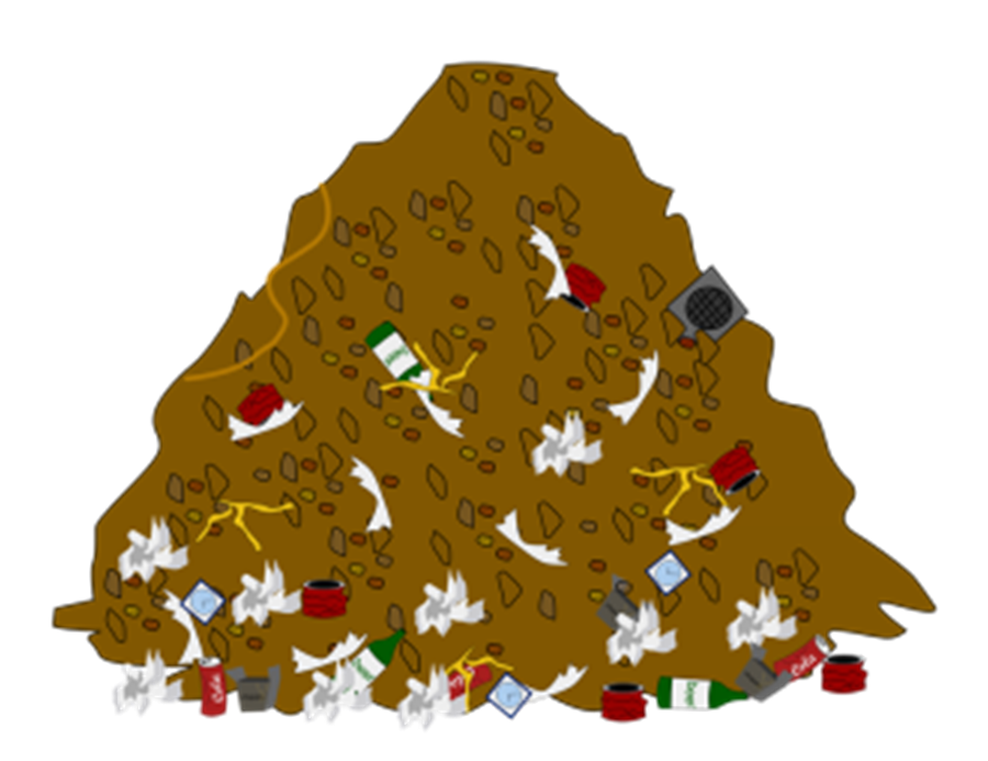 collection of food. Dirt clipart dirt pile