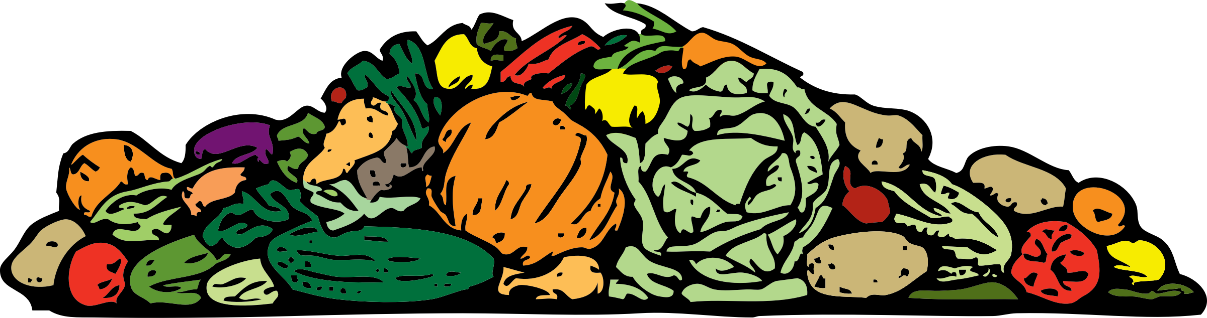 collection of pile. Clipart people vegetable