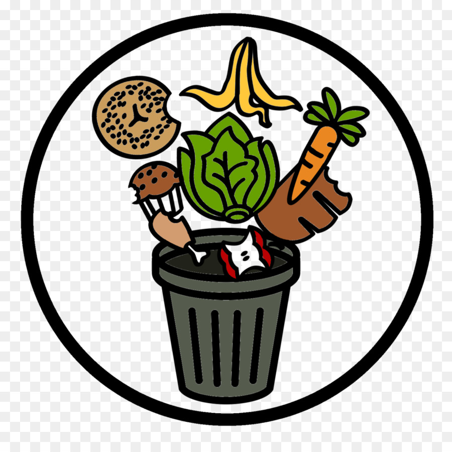 Recycling background kitchen tree. Food clipart rubbish